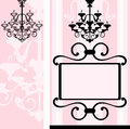 Interior design romantic vintage decorative house banners Royalty Free Stock Images