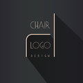 Interior designer brand identity. Chair line logo. Business card template included.