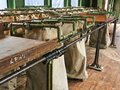Interior detail of a railway post office RPO train car Royalty Free Stock Photo