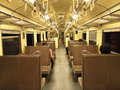 Interior of diesel railcar picture Royalty Free Stock Images