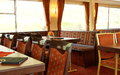 Interior of dining room in a river cruise ship Royalty Free Stock Photo