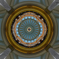 Interior dome of Mississippi Capitol Royalty Free Stock Photo