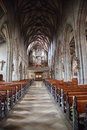 Interior dominican church,Rottweil Stock Images