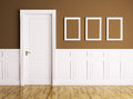 Interior with door and frames of a room classic Royalty Free Stock Image