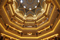 Interior of the Emirates Palace Royalty Free Stock Photography