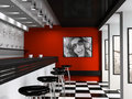 Interior of fashionable bar Royalty Free Stock Photo
