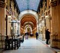 Interior of Ferstel Passage in Vienna Royalty Free Stock Photo