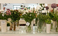 Interior of a flower shop Royalty Free Stock Photo