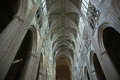 Interior of a gothic cathedral of saint gatien tours france built between and Stock Photography