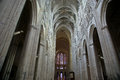 Interior of a gothic cathedral of saint gatien tours france built between and Stock Photo