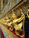 Interior of the grand palace in bangkok thailand Royalty Free Stock Photography