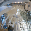 Interior of guggenheim museum in bilbao spain march the the spain on march the is a modern and Stock Photography