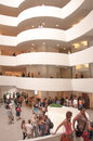Interior of guggenheim museum in new york city this was designed by frank lloyd wright Royalty Free Stock Photography