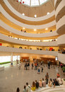 Interior of guggenheim museum in new york city this was designed by frank lloyd wright Royalty Free Stock Images