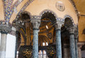Interior haghia sophia former church than mosque now museum sultan signature istanbul turkey Royalty Free Stock Image
