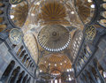 Interior of the Hagia Sophia in Istanbul Stock Photos