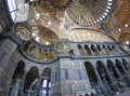 Interior of the Hagia Sophia in Istanbul Royalty Free Stock Photo