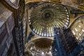 Interior of hagia sophia in istanbul turkey greatest monument byzantine Royalty Free Stock Photos