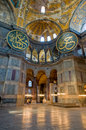 Interior of Hagia Sophia museum in Istanbul. Royalty Free Stock Photography