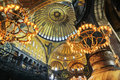 Interior of hagia sophia museum in istanbul turkey Royalty Free Stock Images