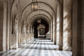 Interior hallway at a landmark in paris france Royalty Free Stock Image