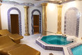 Interior hamam with two pools Royalty Free Stock Photos