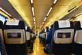 Interior of  high speed railway carriage Royalty Free Stock Photo