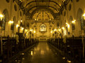 Interior of Holy Rosary Church, also called Kalawar Church Royalty Free Stock Image