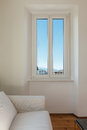 Interior home, window Royalty Free Stock Photo