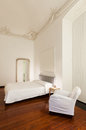 Interior hotel double room beautiful in historic building Stock Image