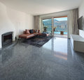 Interior of house modern living room marble floor Stock Image