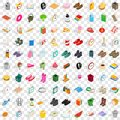 100 interior icons set, isometric 3d style