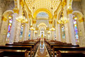 Interior  Inside a Catholic Church Royalty Free Stock Photo