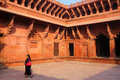 Interior of Jahangiri Mahal in Agra Fort, Uttar Pradesh, India Royalty Free Stock Photo