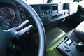 Interior of large truck cab Royalty Free Stock Image