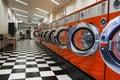 Interior of laundromat Royalty Free Stock Photo