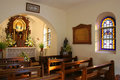 Interior of a little church Royalty Free Stock Photography