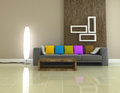 Interior living room 3D rendering Stock Photo