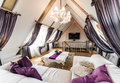 Interior of living room in the attic Royalty Free Stock Photo