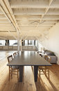 Interior loft, table Stock Image