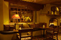 Interior lounge and fireplace Royalty Free Stock Photo