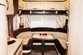Interior of luxury motorhome new Royalty Free Stock Image