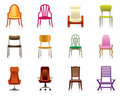Interior, luxury, office, and plastic chairs Stock Photo