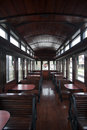 Interior of luxury old train carriage Royalty Free Stock Photo