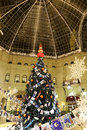 Interior main universal store gum in the christmas new year holidays red square moscow russia inscriptions russian and Stock Images