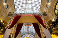 Interior of the main universal store gum moscow russia on red square in this mall celebrates th aniversary in inside view Stock Images