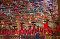 The interior of the Man Mo Temple Royalty Free Stock Image