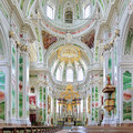 Interior of mannheim jesuit church germany in Stock Image