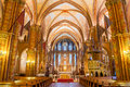 Interior of the Matthias Church is a Roman Catholic church located in Budapest Royalty Free Stock Photo