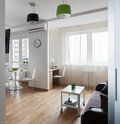Interior of modern apartment in scandinavian style Royalty Free Stock Photo